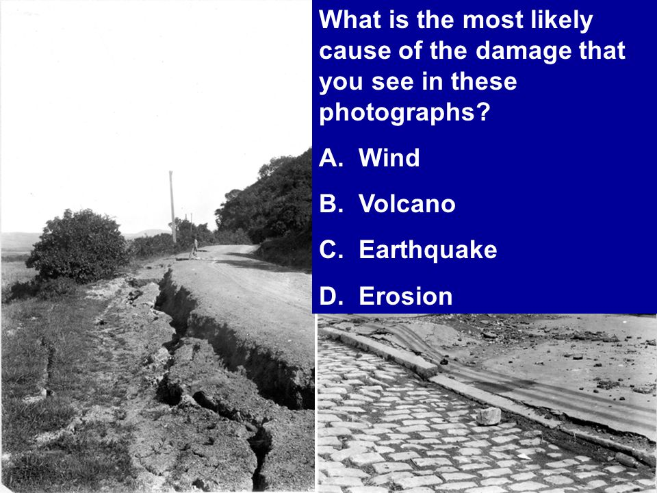 What is the most likely cause of the damage that you see in these photographs.