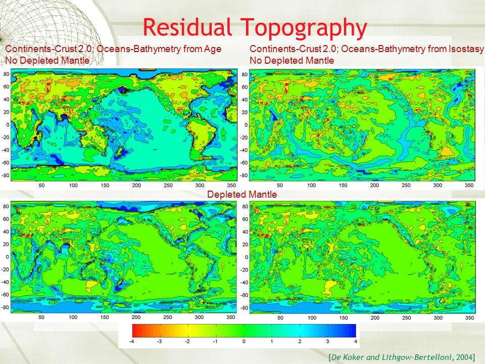 Surface Topography Crustal Structure [ Laske et al., 2001] [Laske et al., 2002]