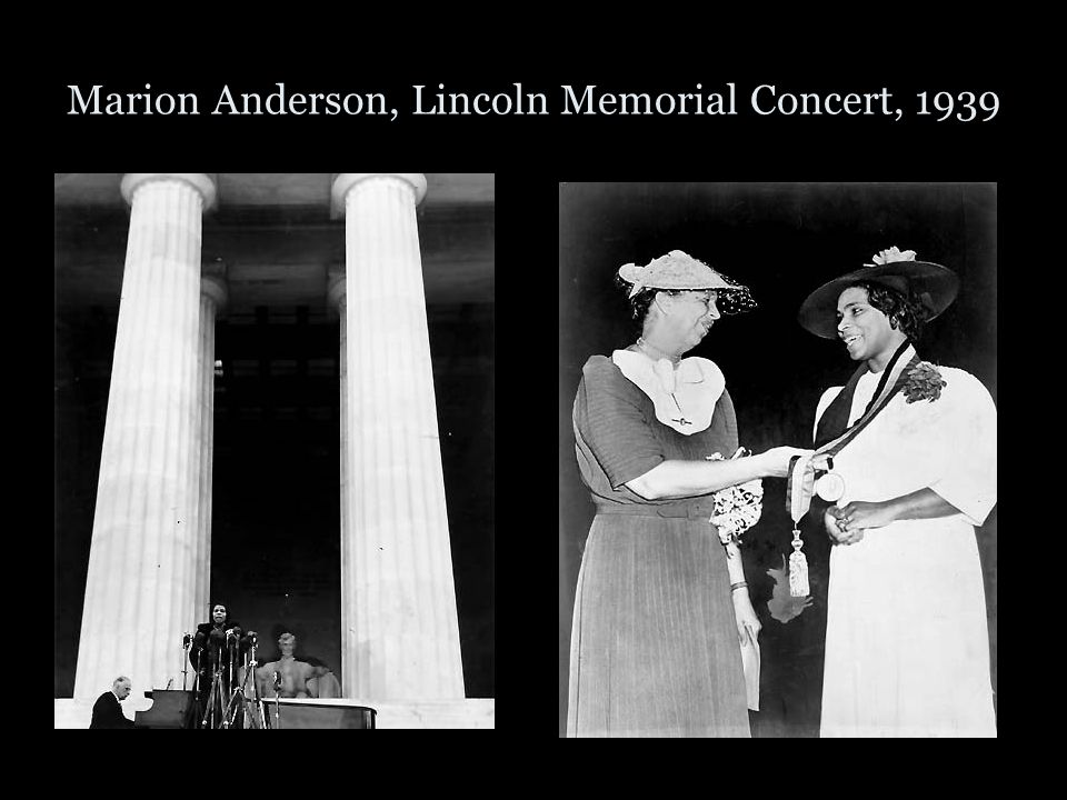 Marion Anderson, Lincoln Memorial Concert, 1939