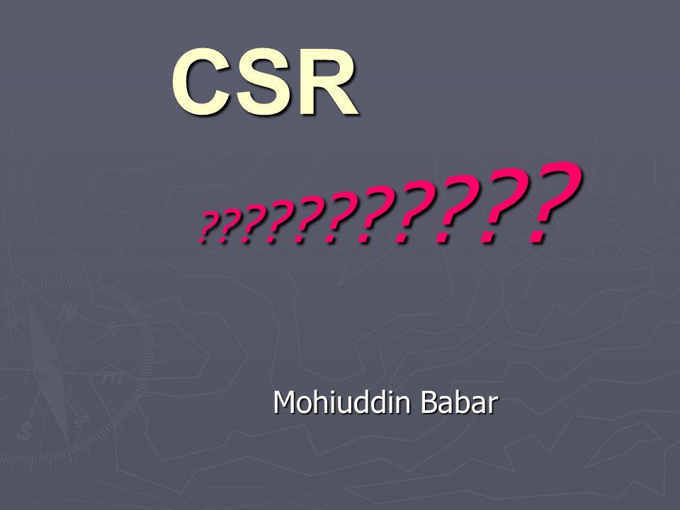CSR Mohiuddin Babar