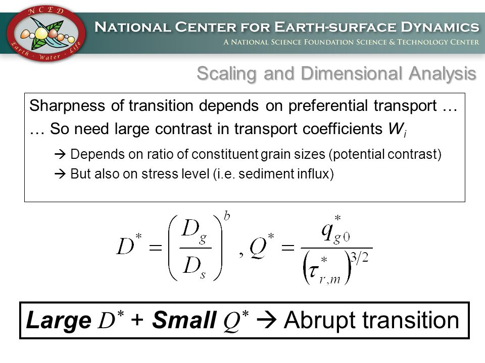 Sharpness of transition depends on preferential transport … … So need large contrast in transport coefficients W i  Depends on ratio of constituent grain sizes (potential contrast)  But also on stress level (i.e.