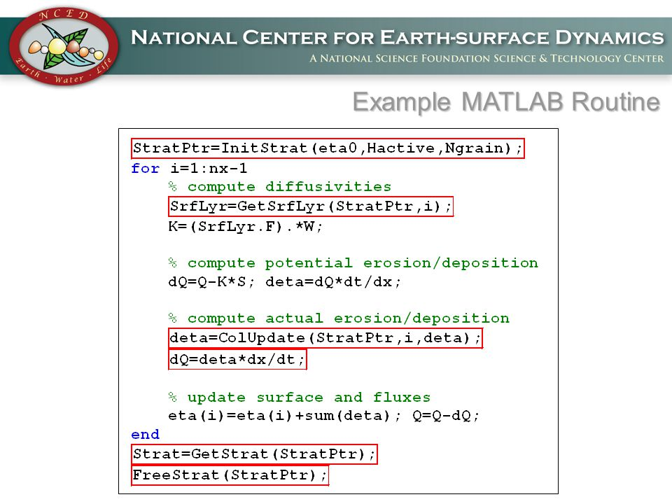 Example MATLAB Routine