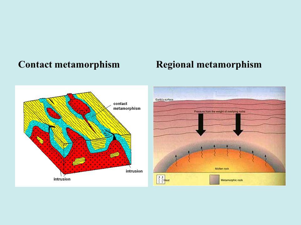 Contact metamorphismRegional metamorphism