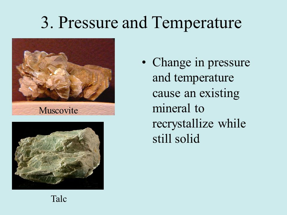 Forms of Metamorphism Contact Metamorphism- forms when magma intrudes into existing rock Changes in rocks are minor Regional Metamorphism- formed during mountain building process that occur over a large area Major changes to rocks