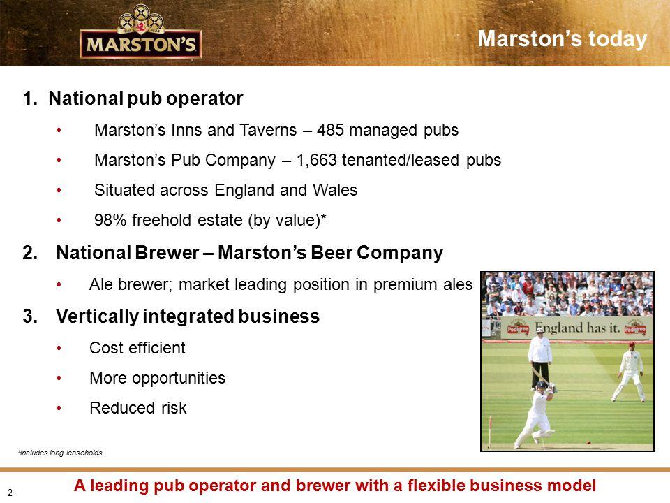 Marston's today 1.