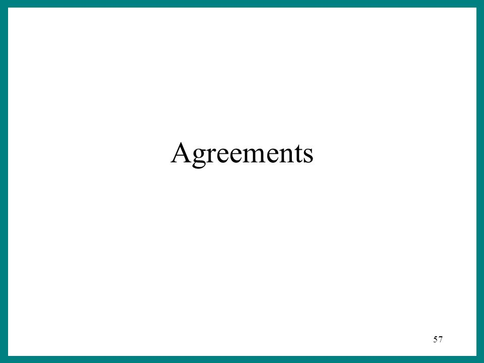57 Agreements