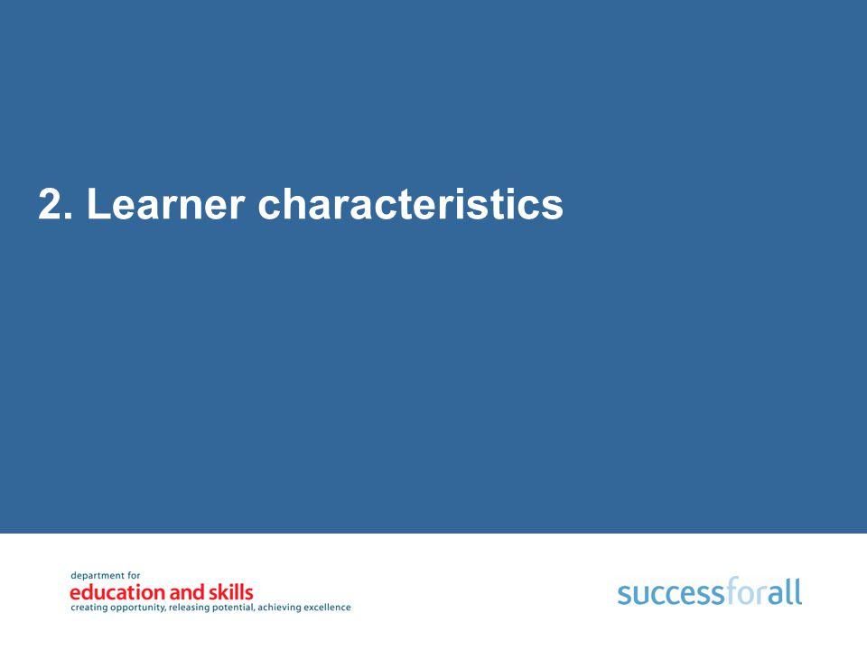 2. Learner characteristics