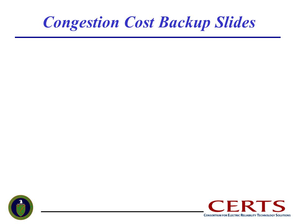 Congestion Cost Backup Slides