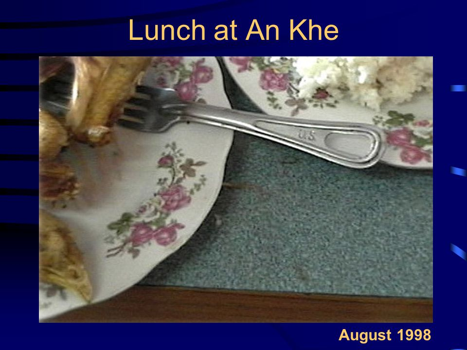 Lunch at An Khe August 1998