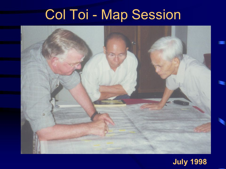 Col Toi - Map Session July 1998