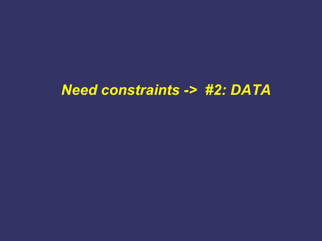 Need constraints -> #2: DATA