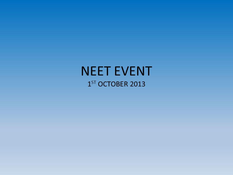 NEET EVENT 1 ST OCTOBER 2013