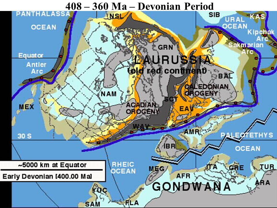 408 – 360 Ma – Devonian Period