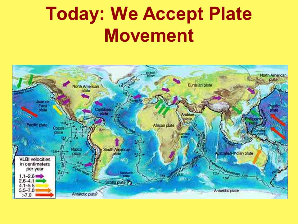 Today: We Accept Plate Movement