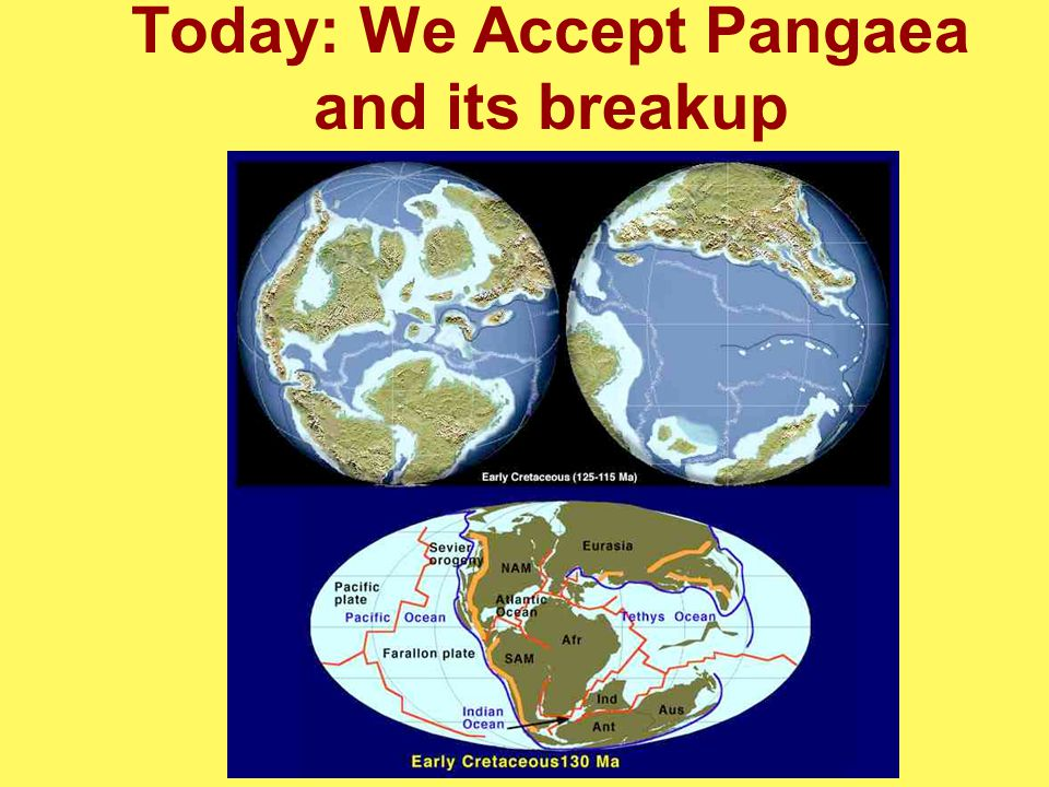 Today: We Accept Pangaea and its breakup