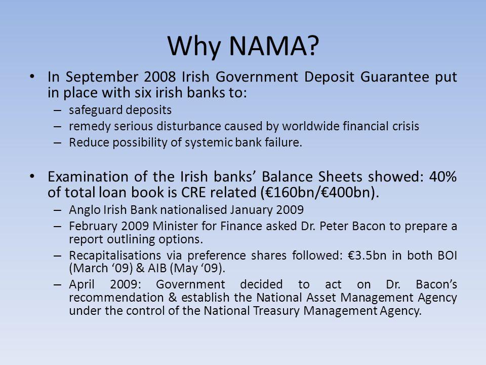 Why NAMA.