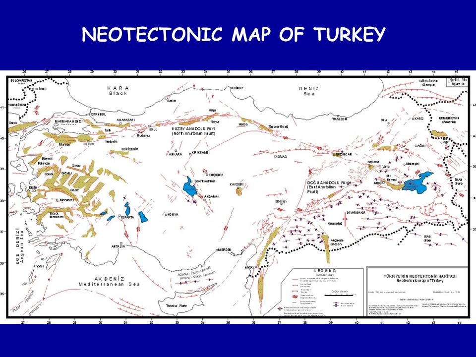 NEOTECTONIC MAP OF TURKEY