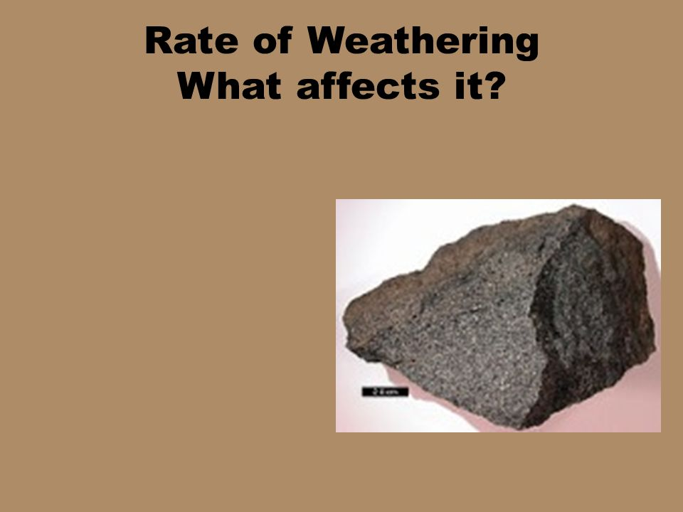 Rate of Weathering What affects it?
