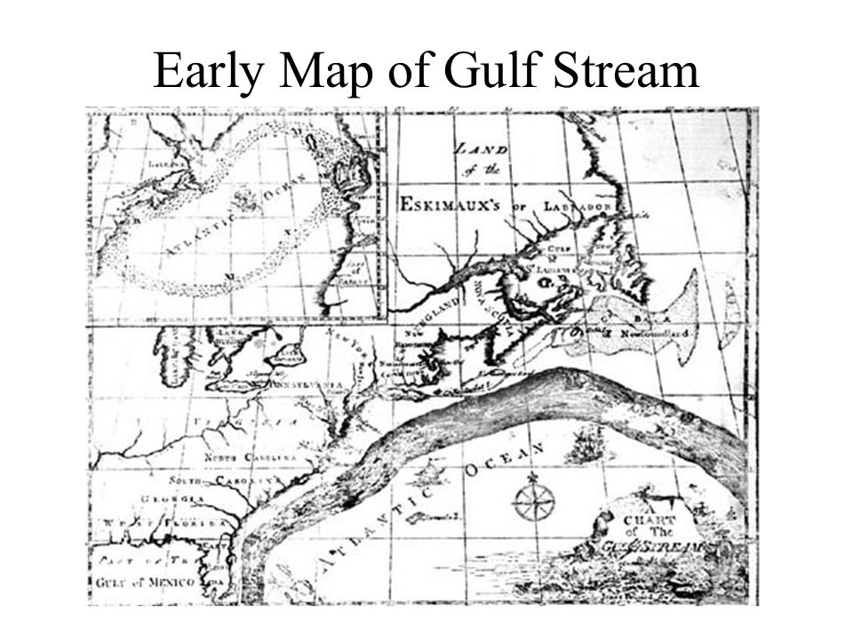 Early Map of Gulf Stream