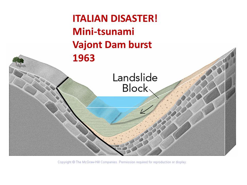 ITALIAN DISASTER! Mini-tsunami Vajont Dam burst 1963