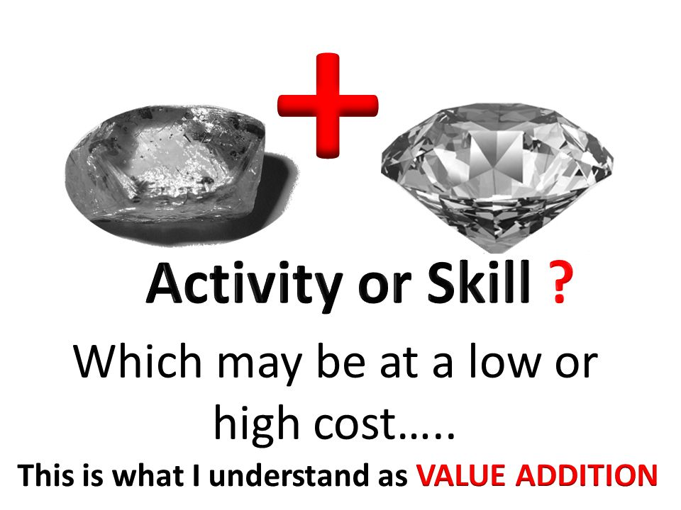 Which may be at a low or high cost…..