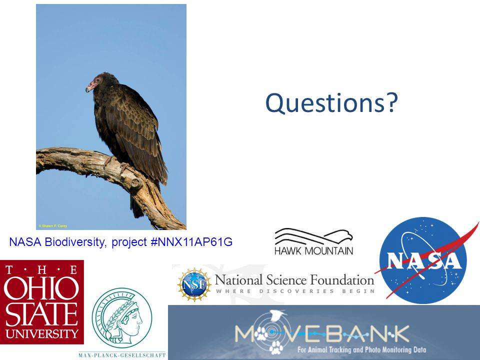 The End Questions NASA Biodiversity, project #NNX11AP61G