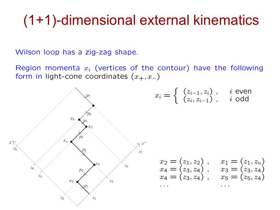 (1+1)-dimensional external kinematics