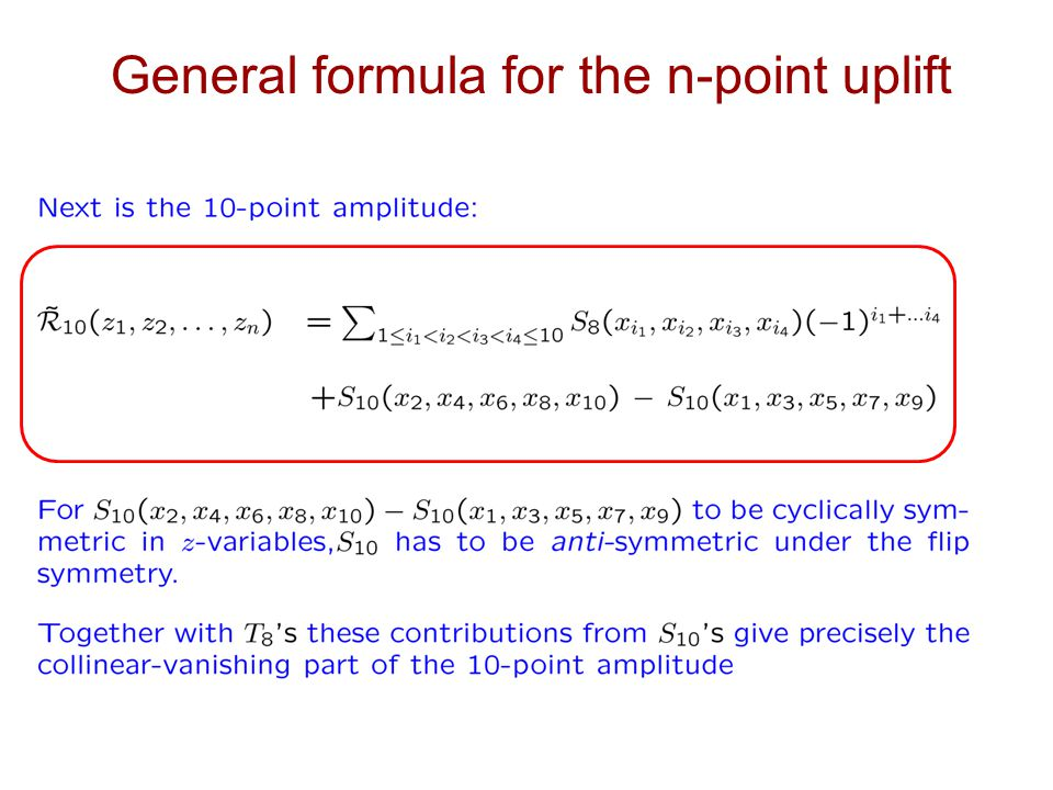 General formula for the n-point uplift