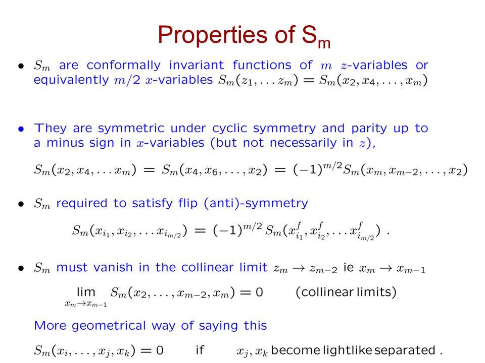 Properties of S m