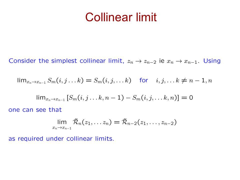 Collinear limit
