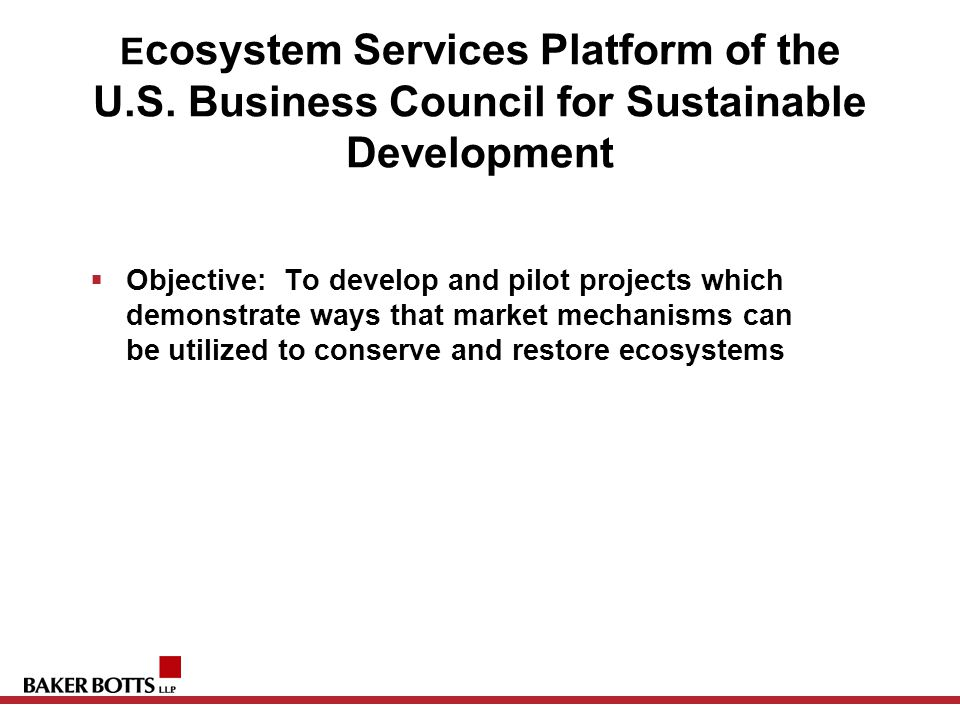 E cosystem Services Platform of the U.S.