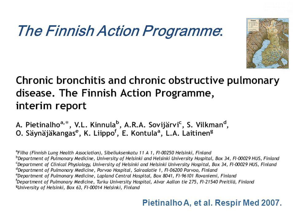 The Finnish Action Programme: Pietinalho A, et al. Respir Med 2007.