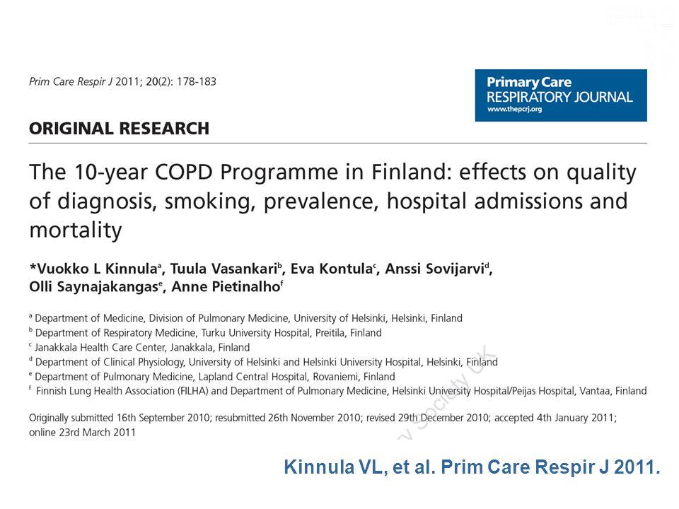 Kinnula VL, et al. Prim Care Respir J 2011.
