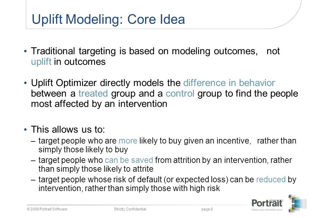 © 2008 Portrait SoftwareStrictly Confidentialpage 9 Uplift Targeting vs.