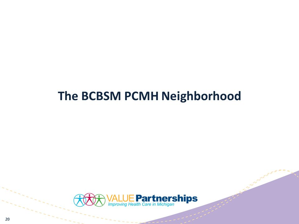 The BCBSM PCMH Neighborhood 20