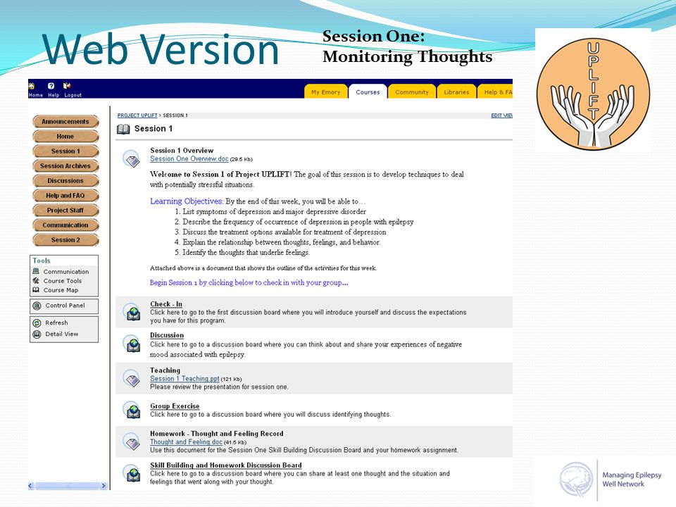 Web Version Session One: Monitoring Thoughts