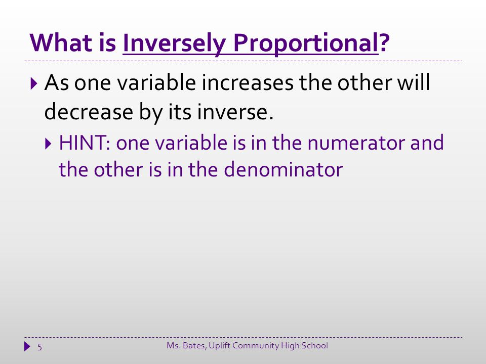 What is Inversely Proportional.
