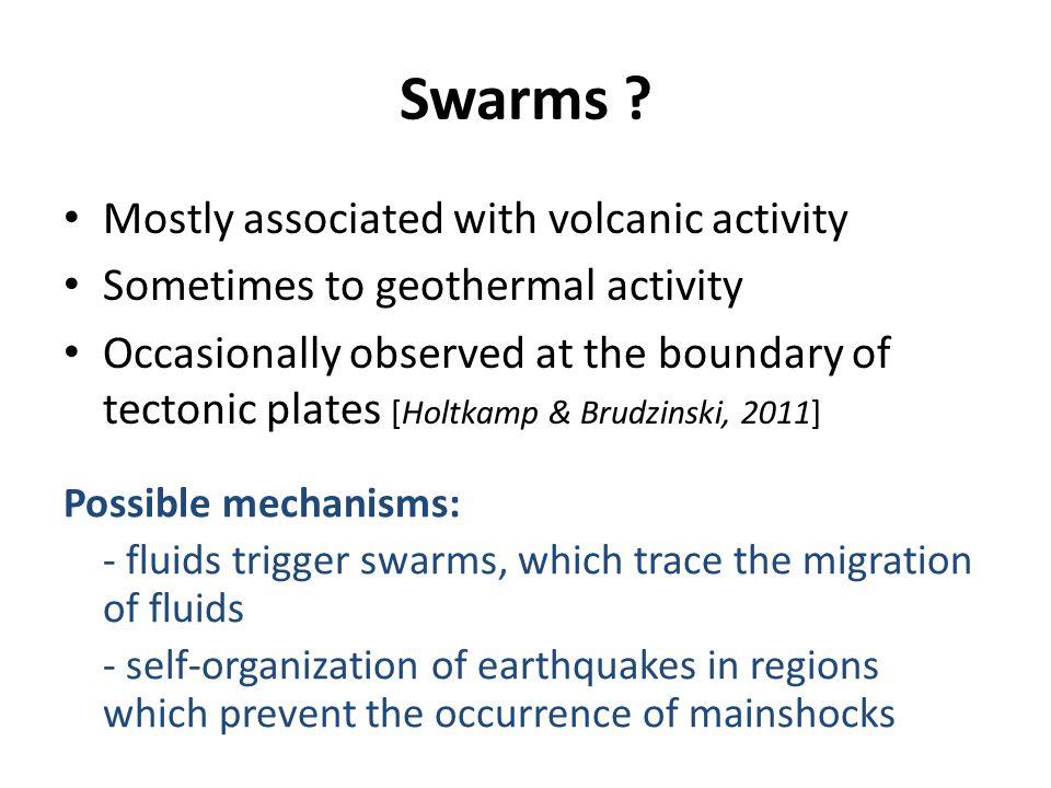 2000 earthquake swarm in Bohemia swarm area  more than 8000 earthquakes  quaternary volcanoes in the region