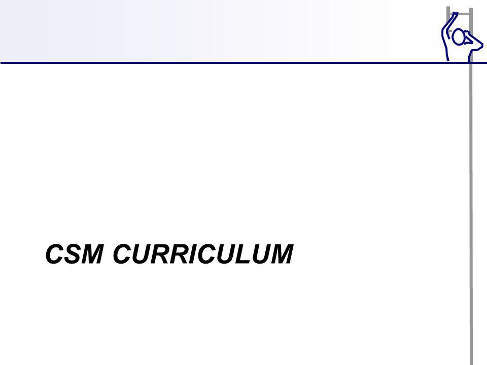 CSM CURRICULUM