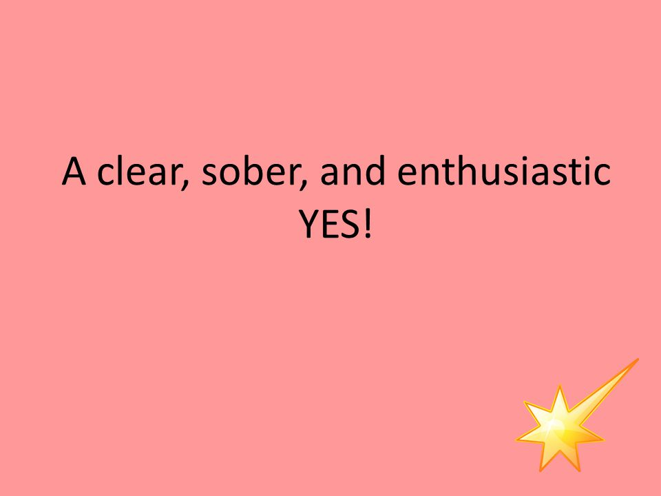 A clear, sober, and enthusiastic YES!