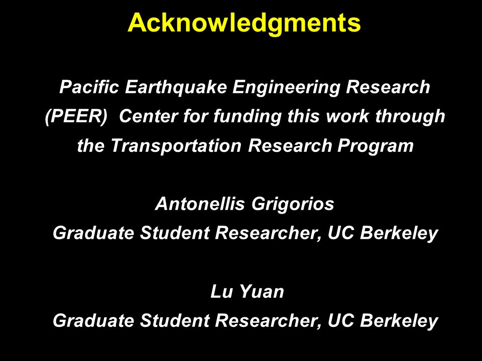 3 Questions 1.Can foundation rocking be considered as an alternative seismic design method of bridges resulting in reduced: i) post-earthquake damage, ii) required repairs, and iii) loss of function .