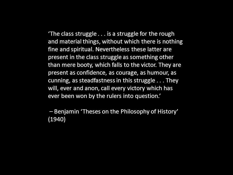 'The class struggle...