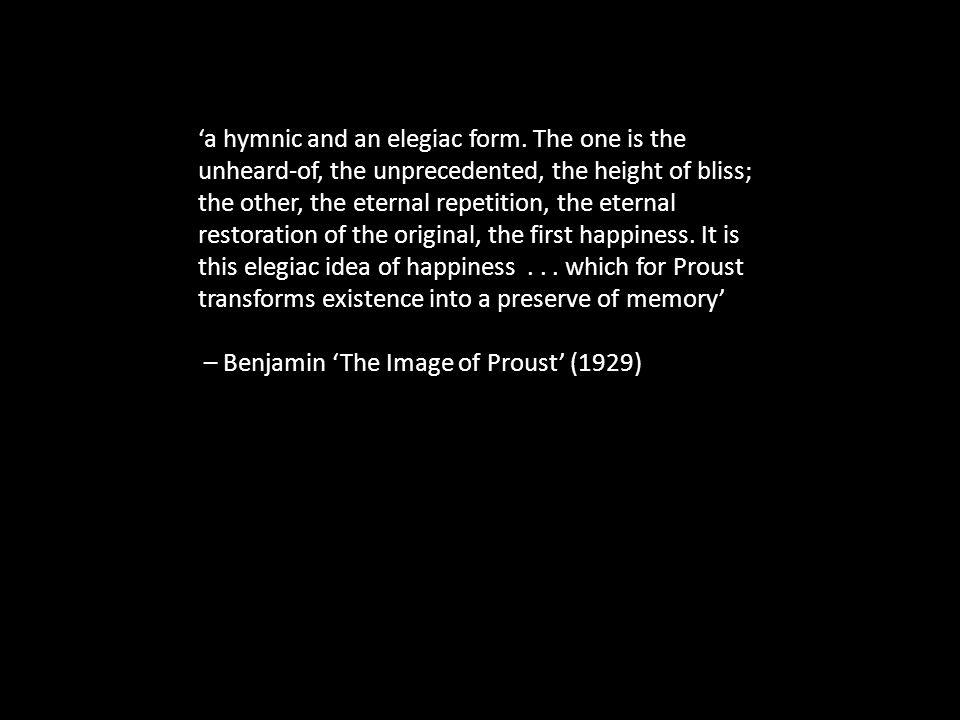 'a hymnic and an elegiac form.