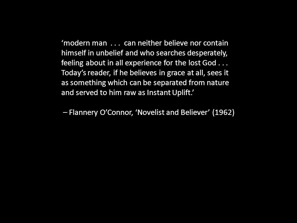 'modern man...