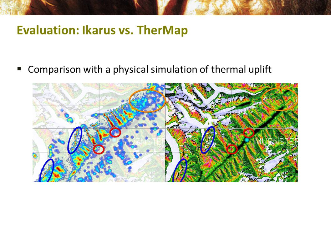  Comparison with a physical simulation of thermal uplift Evaluation: Ikarus vs. TherMap