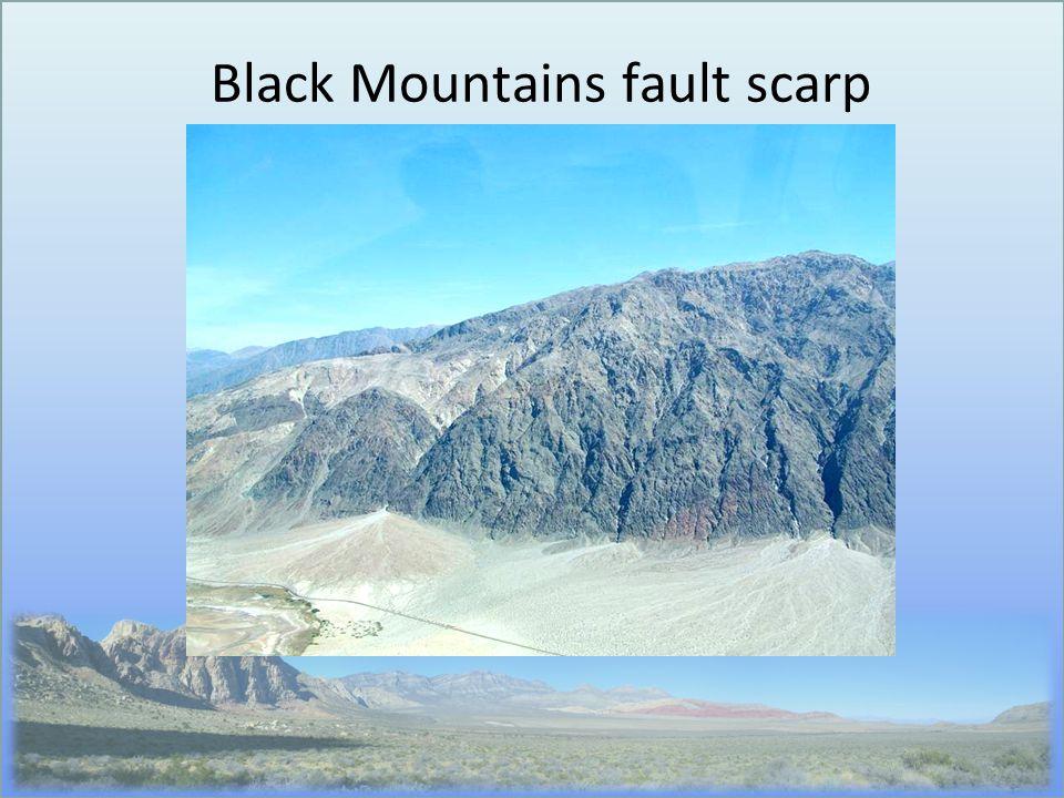 Black Mountains fault scarp