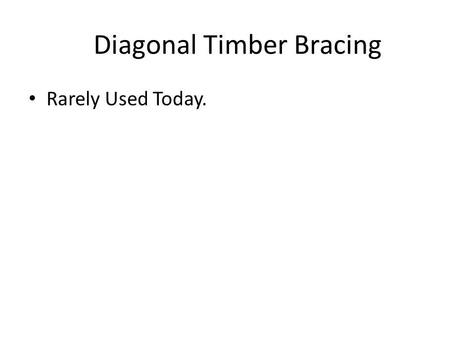 Diagonal Timber Bracing Rarely Used Today.