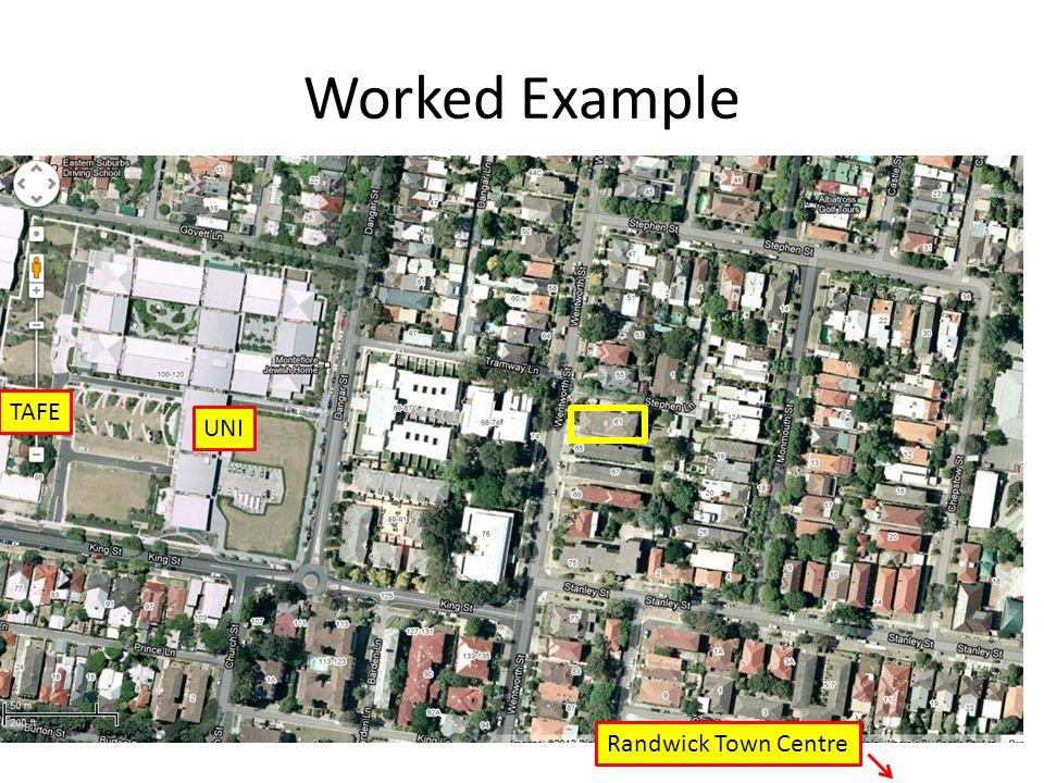 Worked Example TAFE UNI Randwick Town Centre