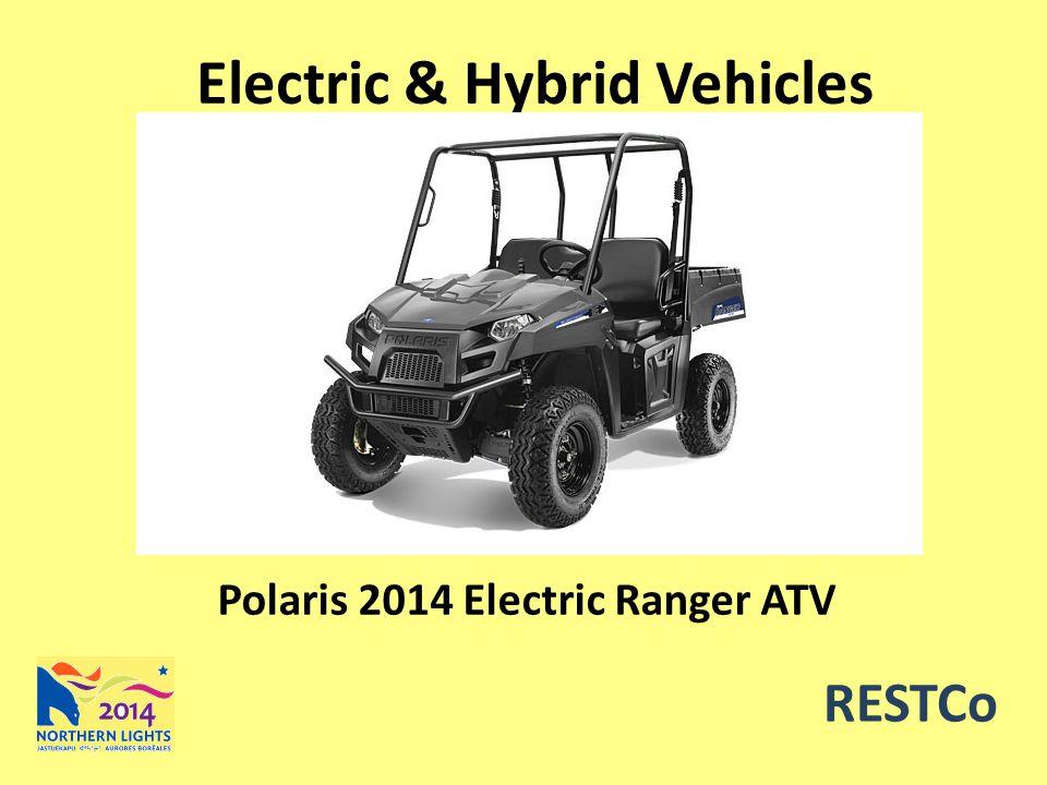 RESTCo Electric & Hybrid Vehicles Polaris 2014 Electric Ranger ATV