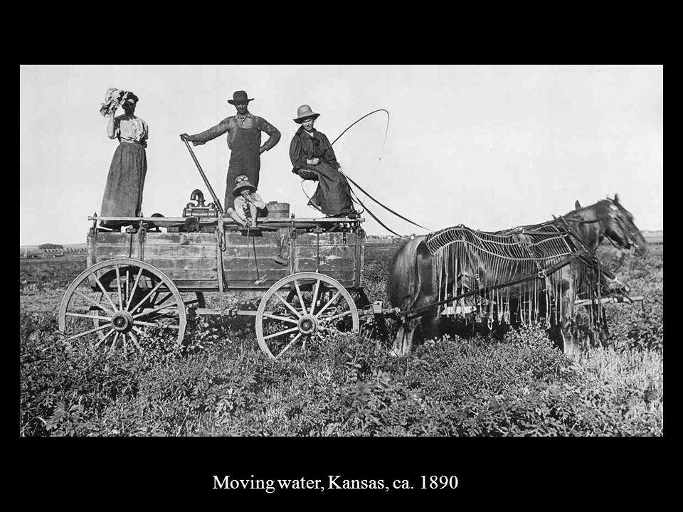 Moving water, Kansas, ca. 1890
